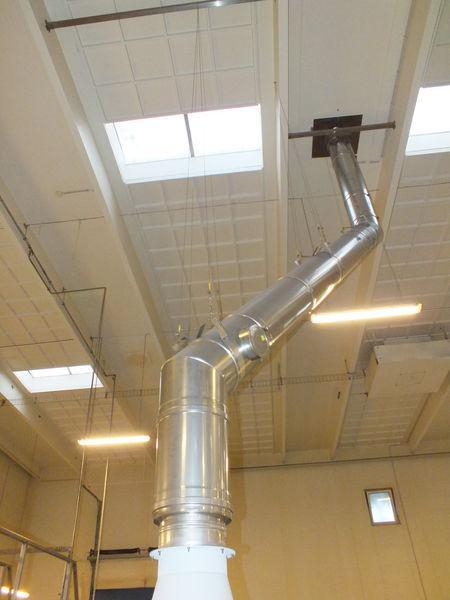 Stainless steel 2-jacketed chimneys and exhausts